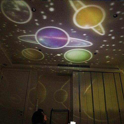 Romantic Starry Night Light Sky Projector Star Lamp Star MasterPlanet Magic Earth Universe LED Colorful RotateFlashing Kids Gift
