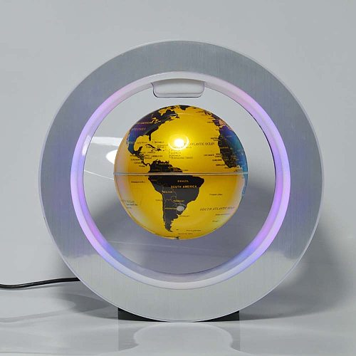 Night Light Bedroom Lamp Ball Decor Luminary Present LED Novelty Round  Floating Globe Magnetic Levitation Antigravity Children