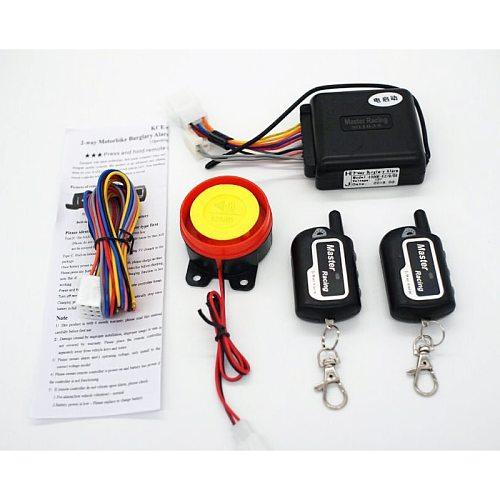 Motorcycle Alarm System Keyless Engine Start Warner Alarm for Motorbike Scooter Anti-theft Security Alarm Remote Control Siren