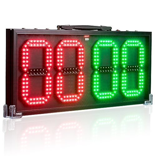 LED Score board 8-In 60CM Soccer Change Player Display Board Game Injury Stop Time DisplayBoards Sports Referee Equipment 2Sides