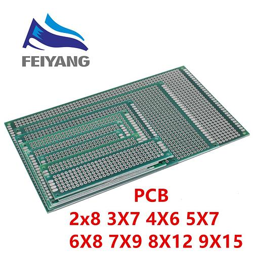 7x9 6x8 5x7 4x6 3x7 2x8cm Double Side Prototype Diy Universal Printed Circuit PCB Board Protoboard   4*6 6*8 5*7 3*7