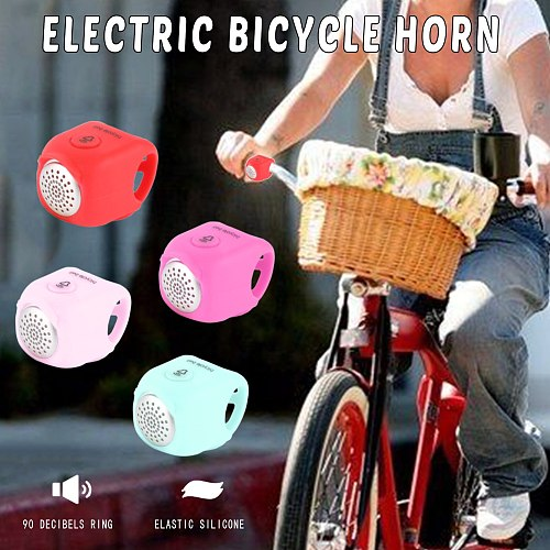 Bike Electronic Loud Horn Alert Ring 90db Warning Safety Electric Bell Siren Bicycle Handlebar Alarm Ring Cycling Accessories