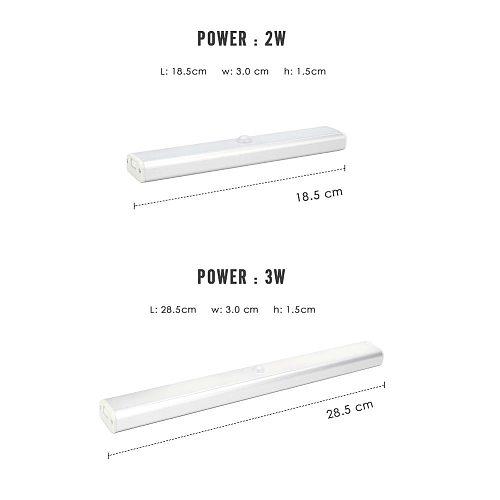 Motion Sensor Night Light PIR Portable USB Rechargeable DC 5V 2W 4W 6W Under Cabinet Closet Wardrobe Stairs Wall Lamp Wireless