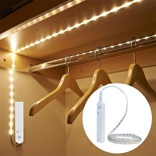 EeeToo PIR Wireless Night Light With Motion Sensor Lighting Waterproof Wall Lamp USB Cabinet Stairs Light Induction LED Children