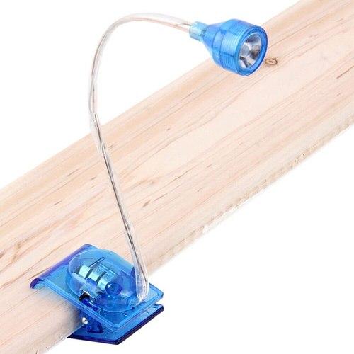 1 Pcs Night Lights Flexible Arm Adjustable Bright LED Clip On Reading Light Mini Desk Table Lamp 4.8x3.2x2.7cm
