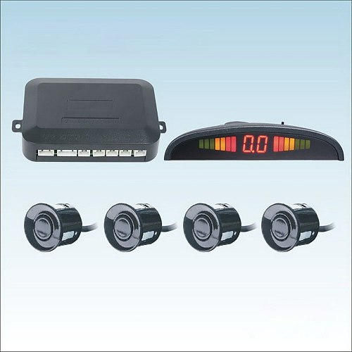 LED Crescent Parking  4 Sensor Crescent Digital Buzzer  24mm Parking Sensor Radar Display Monitored Detection System