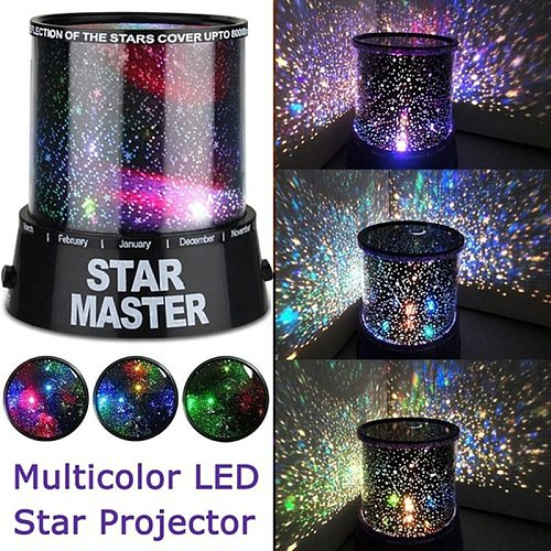 Romantic Amazing LED Starry Night Sky Projector Lamp Star light Cosmos Master