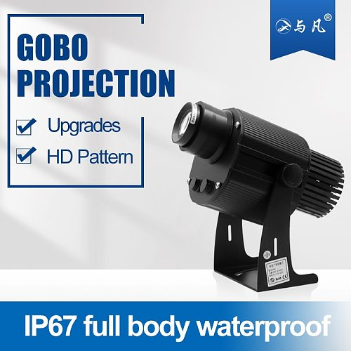 100W IP67 Professional gobo projector Advertising Lamp Outdoor Waterproof Long Distance Led Projector Light Customized Logo