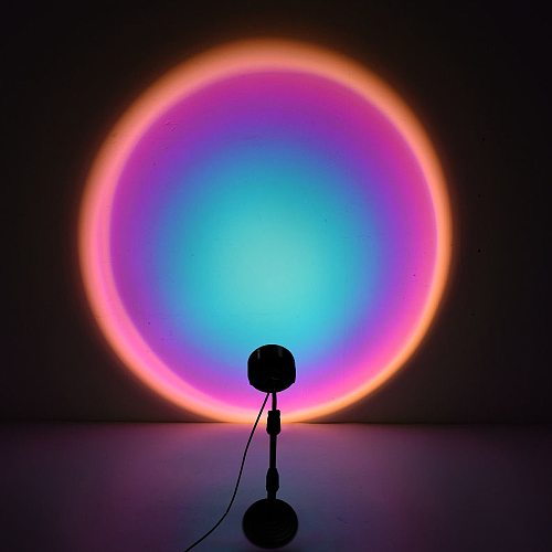 USB Fashion Rainbow Sunset Red Projector Table Lamp Led Night Light For Home Children Bedroom Coffee Shop Background Wall Decor