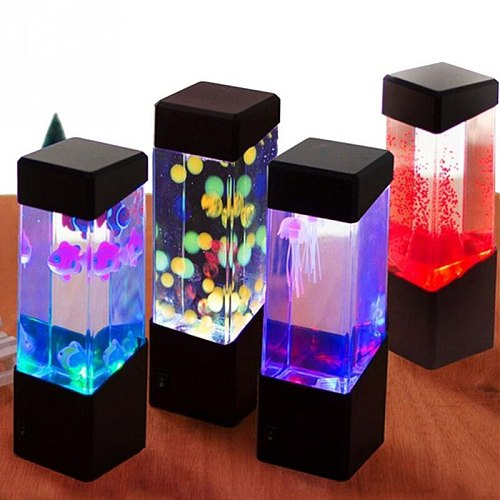 Changing Table Lamp Led Jellyfish Tank Night Light Color Aquarium Electric Mood Lava Lamp For Kids Children Gift Home Room Decor