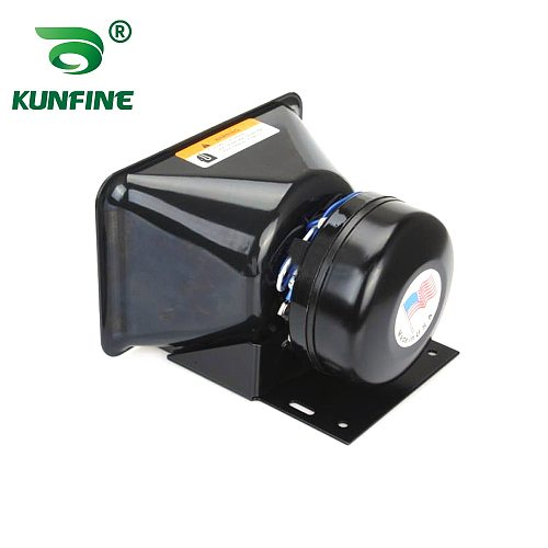 KUNFINE 200W Emergency Warning Car Horns Super Loud Alarm Siren Sound Tone Police Fire Horn Loudspeaker