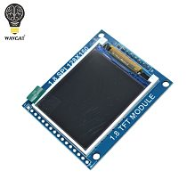 WAVGAT 1.8 Inch Serial SPI TFT LCD Module Display with PCB Adapter IC 128x160 Dot Matrix 3.3V 5V IO Inerface Cmmpatible LCD1602