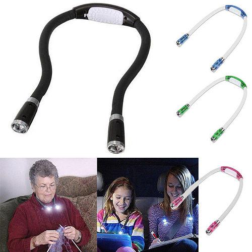 Reading Lamp Flexible LED Portable Book Hug Light LED Handsfree Reading Light Knitting Crocheting Reading Walk Neck Lamp