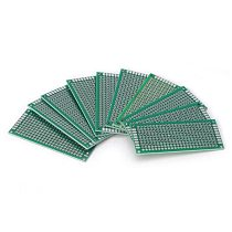 10pcs Electronic PCB Board 3x7cm Diy Universal Printed Circuit Board 3*7cm Double Side Prototyping PCB For Arduino Copper Plate