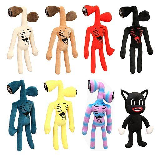 38cm Siren Head Plush Toy White Black Sirenhead Stuffed Doll Horror Character Figures Peluches Toys for Children Birthday Gift