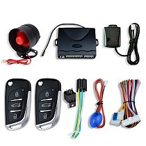 Central Locking Auto Car Alarm Immobilizer System With Horn Warning Siren Sensor Remote Control Door Lock Automation Security