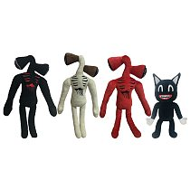 Siren Head Plush Toy Anime Plushie Black Cartoon Cat Stuffed Animals Doll Horror Sirenhead Peluches Toys For Kids Christmas Gift