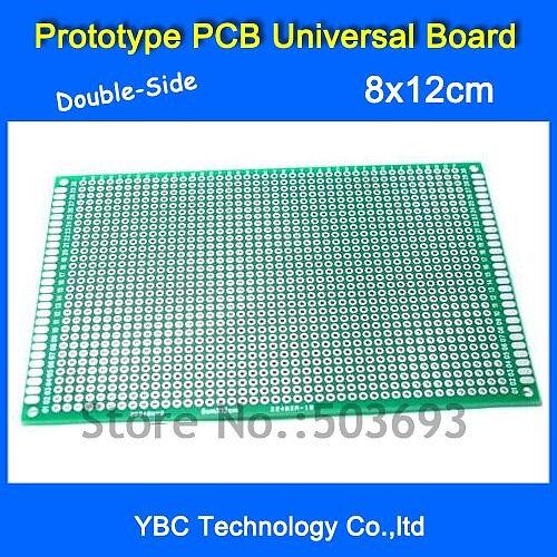 5pcs/Lot 8x12cm Double-Side Prototype PCB Universal Board for DIY