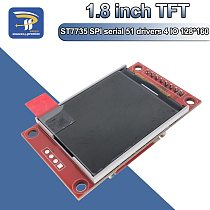 1.8 inch TFT LCD Module LCD Screen Module ST7735 SPI serial 51 drivers 4 IO driver TFT Resolution 128*160 For Arduino