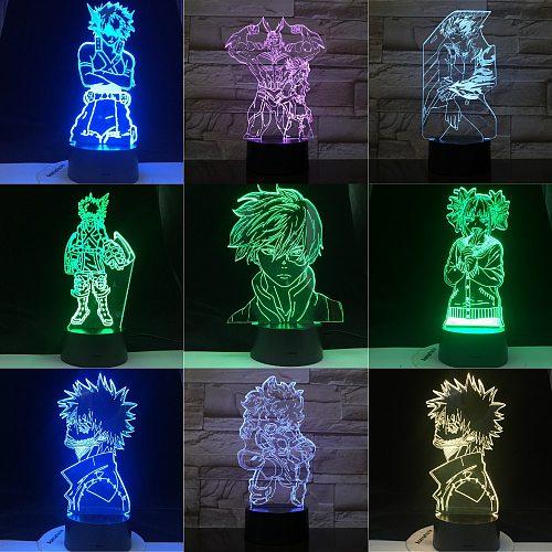 My Hero Academia Katsuki Bakugo SHOTO TODOROKI Dabi TOGA HIMIK KATSUKI BAKUGO ALL MIGHT MIDORIYA IZUKU 3d Lamp Gift