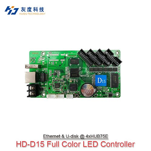 Huidu Asynchronous Full Color Control Card HD-D10 HD-D15 Use For P2 P2.5 P3 P4 P5 P6 P8 P10 Taxi Led Module Display