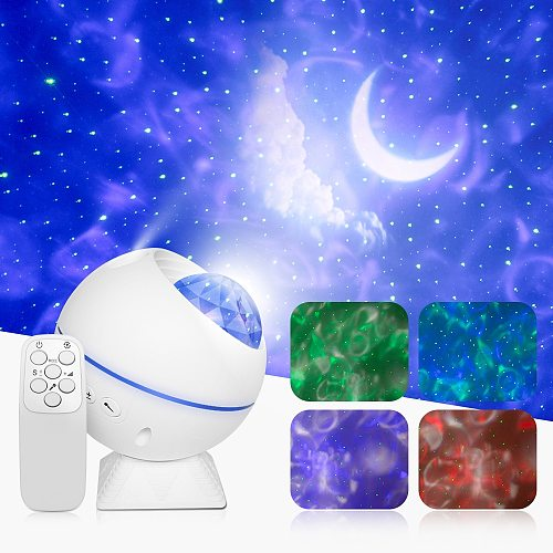 Starry Projector Light Bluetooth Sky Moon Galaxy Ocean Projection Lamp Music Control LED Bedroom Night Light Kids Baby Gifts