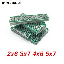 20pcs 5x7 4x6 3x7 2x8 cm Pcb Double-Sided Copper Prototype Universal PCB Board for Arduino