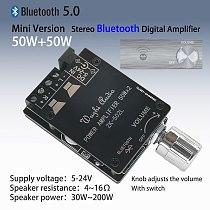 ZK-502L MINI Bluetooth 5.0 DC 5-24V Wireless Audio Digital Power amplifier Stereo board 50Wx2 Bluetooth Amp Amplificador