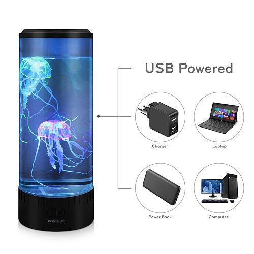 Big Size LED Jellyfish Light Table Desktop Decorative Night Lamp Children Kids Gifts Relaxing Mood Lamp For Home Bedroom Decor