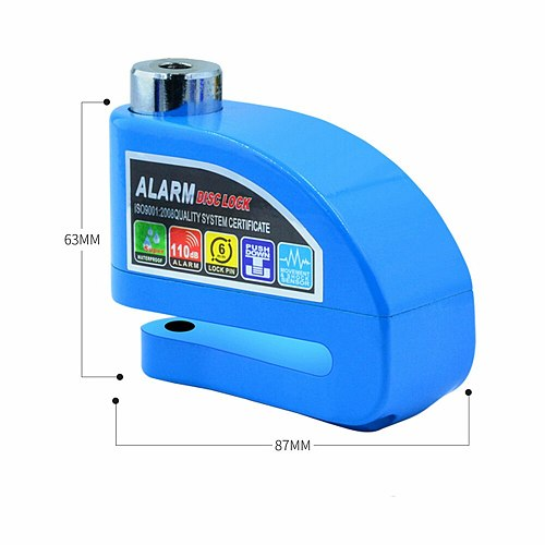 110dB Motorcycle Waterproof Alarm Lock Motorbike Anti-theft Alarm Wheel Disc Brake Security Safety Siren Lock