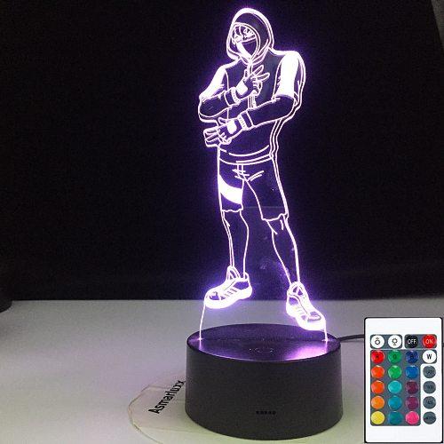 Novelty 3D Lighting Ikonik Model 3D illusion Lamp AA Batteries USB Available Battle Royale Decoration Night Lights