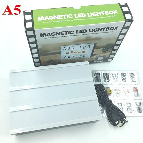 A4 Led Night Light Box with DIY Black Letters Table Lamp A5 A6 Acrylic Cinematic Light Box AA Battery Art Desk Lights Gifts