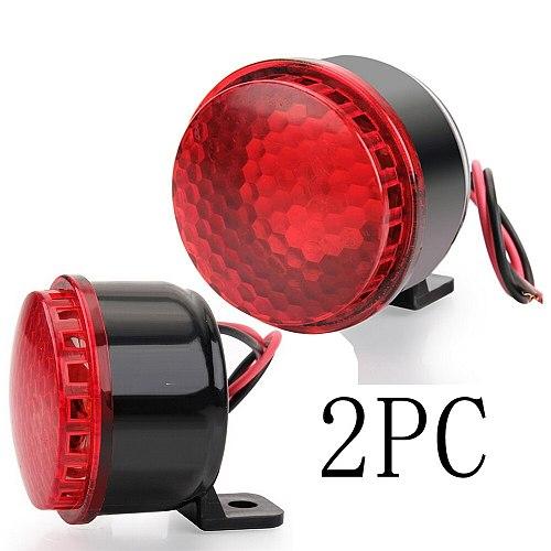 2PC 2  120dB Beep Beep Mini Backup Siren Lamp DC 12V / 24V Motorcyle Small Car Horn Speaker Reverse Backup Buzzer BB Truck BiBi
