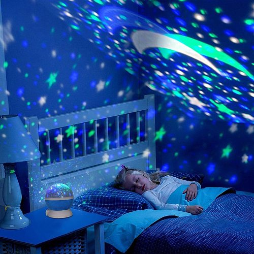 LED Starry Night Light Projector Star Master Lamp Moon Sky Rotating Romantic Projection Light for Children Baby Bedroom Gifts