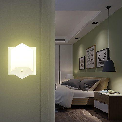Remote Control Mini LED Night Light For Dark Night Children Bedroom Bedside Lamp With EU US UK Plug Baby Sleeping Light