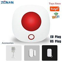 Tuya Wifi Light Siren Alarm 100dB Loudspeaker Indoor Wireless 433MHz Strobe Siren Security Alarms For Tuya 4G Gsm Alarm System