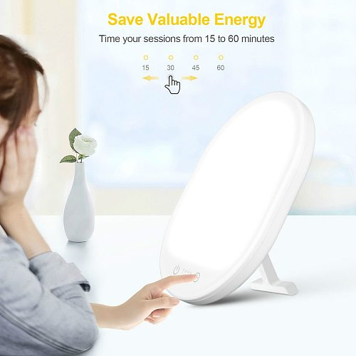 10000 Lux Sad Lamp Light Therapy Lamp with 3 Adjustable Brightness Levels Touch-Control Light Therapy Light