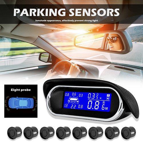 Car Parktronic LED Parking Sensor With 22MM 8 Sensors Reverse Backup Car Parking Radar Monitor Detector System Backlight Display