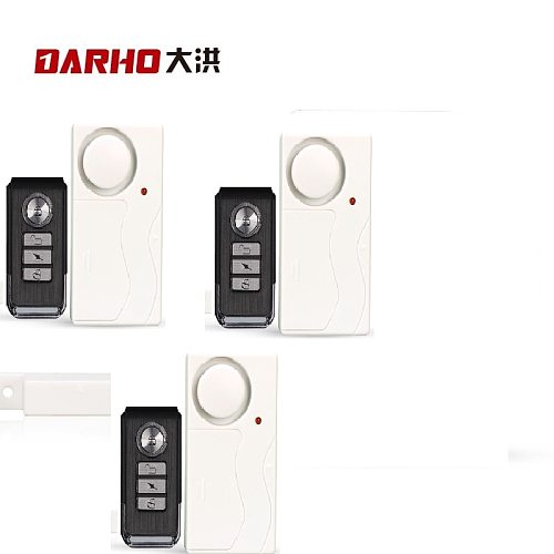Darho 3pcs Shop Security Door Window Siren Magnetic Sensor Alarm Warning System Wireless  Wholesale Door Detector Burglar Alarm