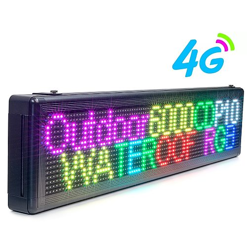3G 4G Wifi Wireless Outdoor P10 LED Advertising Display RGB Programmable Message Long Distance Control LED Display Panel