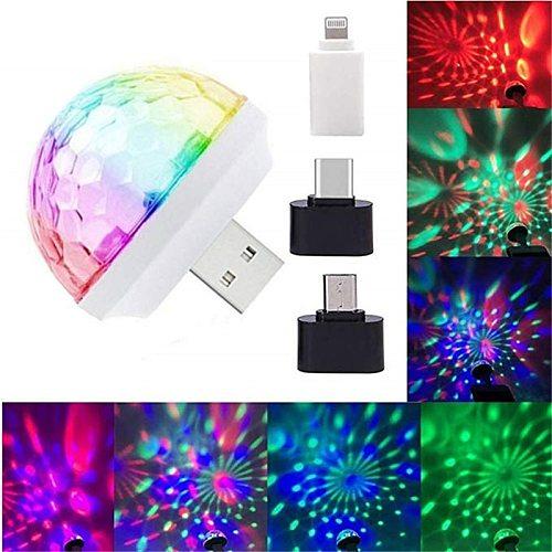 USB Mini Disco Lights,Portable Home Party Light,DC 5V USB Powered Led Stage Party Ball DJ Lighting,Karaoke Party Led Christmas