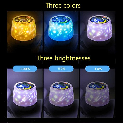 ZK20 Dropshipping Night Lights Projector for Kids Rotation Moon Star Light Boys Girls Kids Bedroom Birthday Christmas Gift