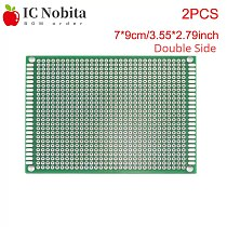 2PCS 7x9 7*9cm Double Sided Prototype Paper PCB Universal Board Experiment Board Fiberglass Board Paper Matrix Circuit Board