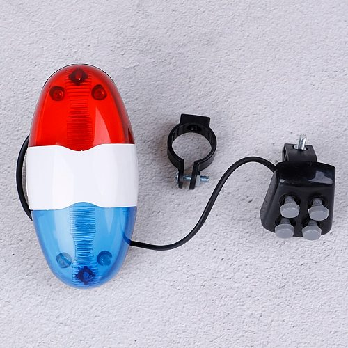 6 LED 4 Tone Bicycle Horn Handlebar Clearly Sounds Bike Call LED Cycling Light Electronic Siren Kids Accessories Bicycle Bell
