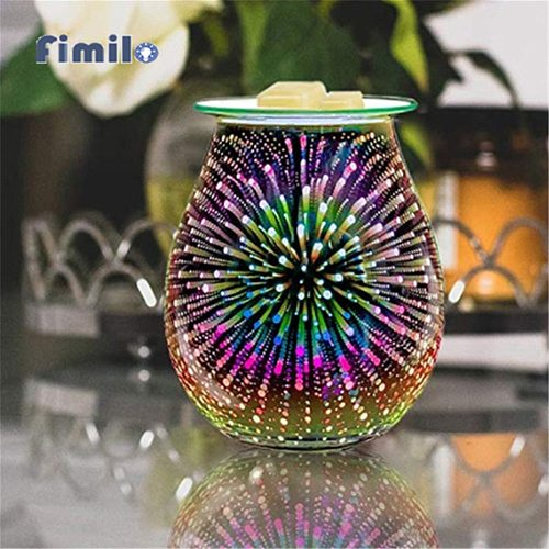 Table Night Light Aromatherapy Lamp With 3D Firework Effect Night Lamp Burner Aroma Decorative Lamp For Home Bedroom Living Room
