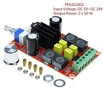 XH-M189 Digital Power Amplifier Board TPA3116 DC24V Dual Channel Ampli AMP Stereo TPA3116D2 2X50W High End D2 Audio Amplificator
