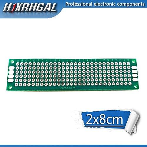 5pcs  2x8cm 2*8 Double Side Prototype PCB diy Universal Printed Circuit Board hjxrhgal