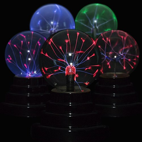 Lava Lamp Box Lightning night light Magic Plasma Ball Retro Light 3 Inch Kids Christmas Party Cristal Gift Room Decoration