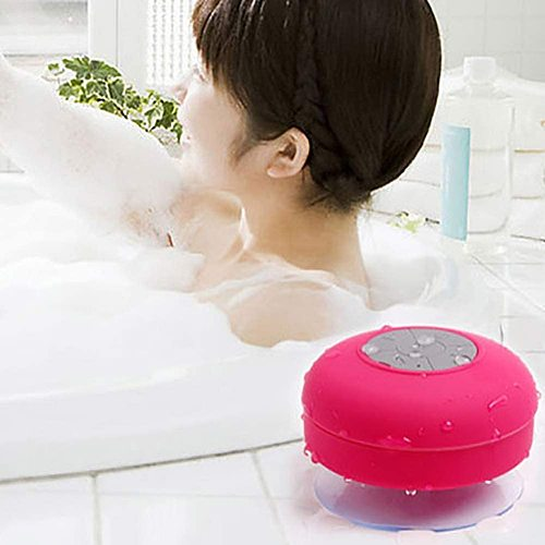 Shower Speaker Bluetooth Waterproof Resistant Wall Mount Portable Speaker Wireless Built-in Microphone With Solid Suction Cup