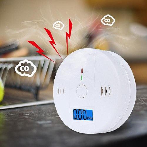 LCD Warning Alarm Detector CO Sensor Work Alone Siren Sound Independent Carbon Monoxide Poisoning Warning Alarm Detector